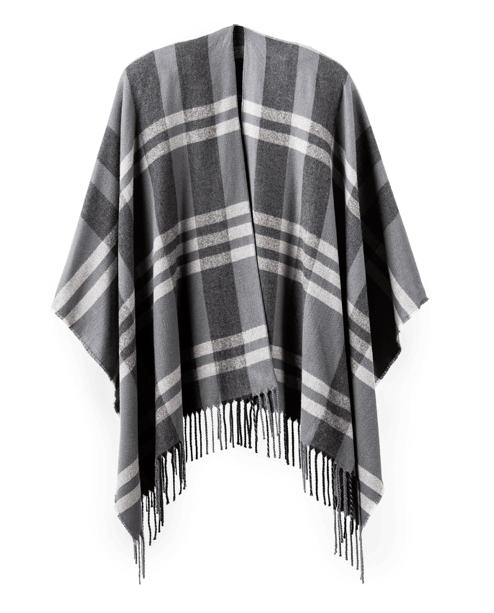 Poncho Wrap in Charcoal