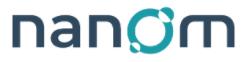 Nanom company logo