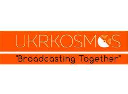 Ukrkosmos company logo