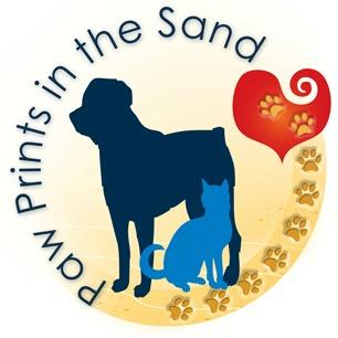 Paw Prints in the Sand Animal Rescue company logo
