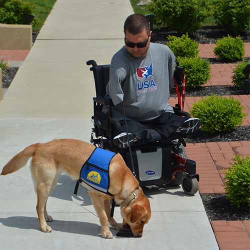Brandon & Service Dog Kary