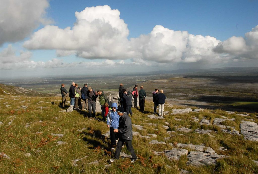 Walkers dress warmly for guided farm excursions in September.