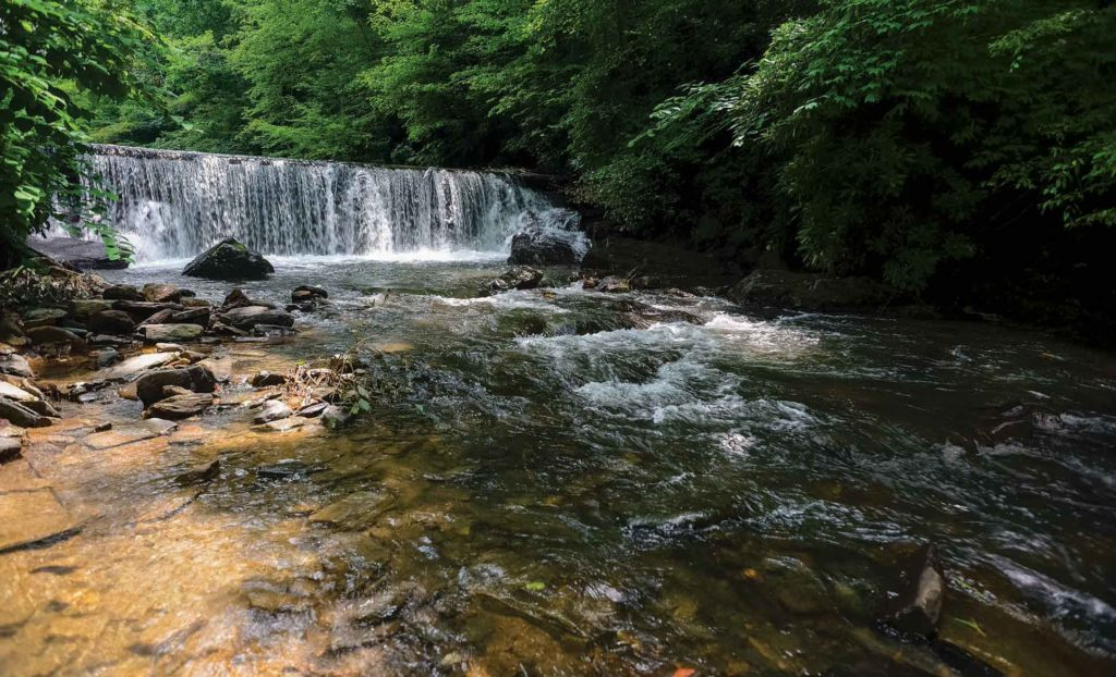 The beautiful Linville River provides natural beauty a short drive from Asheville, N.C.