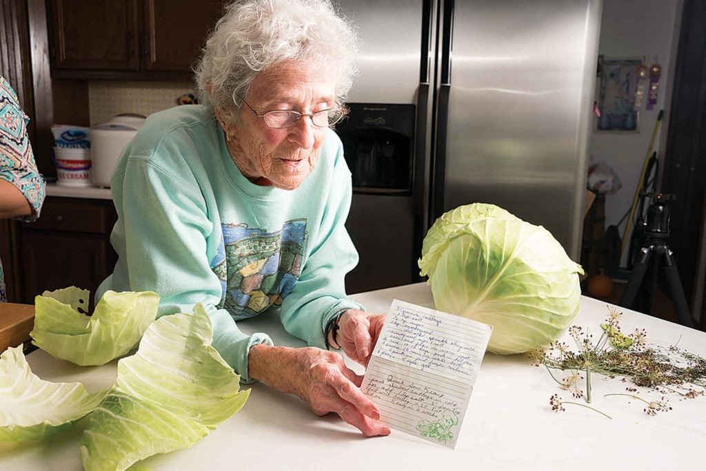 Phyllis Griffin shows off her prized recipe.