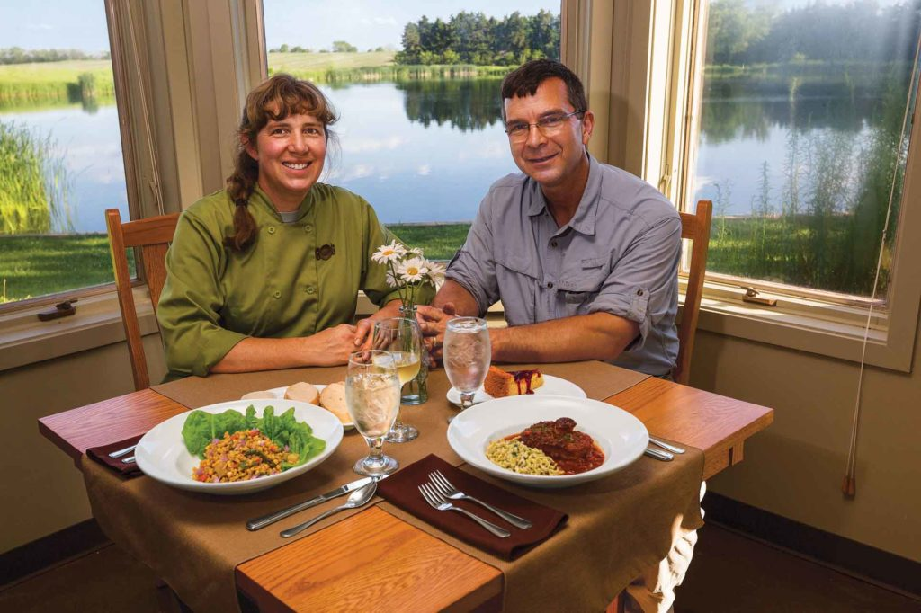 Renee and Jerry Cornett offer a unique 'taste of place' as they serve fresh ingredients grown on the land surrounding their Prairie Plate Restaurant.