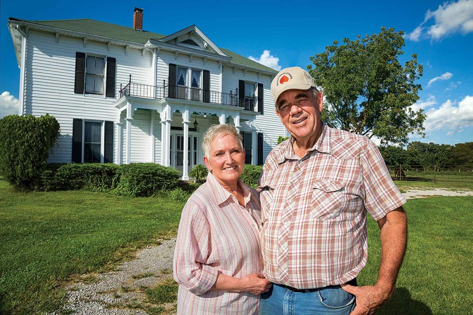 Sue Ellen and Bill Stouffer planted high-value chestnut trees and elderberry bushes on the rolling hills of their historic Missouri homestead.
