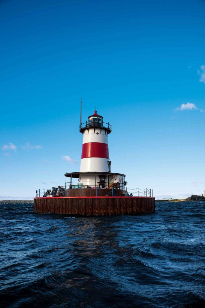 Just a half-mile offshore, Borden Flats Lighthouse offers a restful haven.