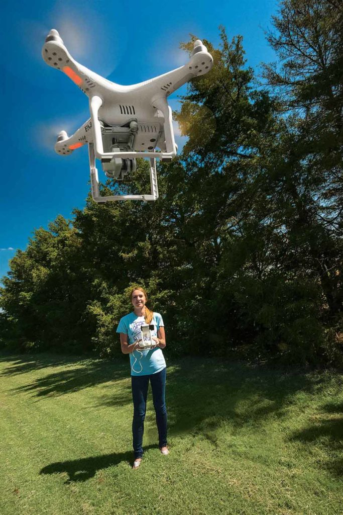 The FAA requires drones flown outdoors to be registered. You must be 13 years old to register a drone and 16 years old to get a Remote Pilot Certificate.
