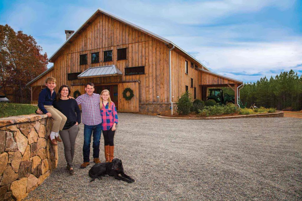 The Downeys spent Thanksgiving at their barn home, Rangers Lodge.