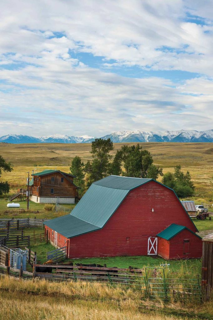 The barn loft offers prime views of the Beartooth mountains and may one day host beehives.