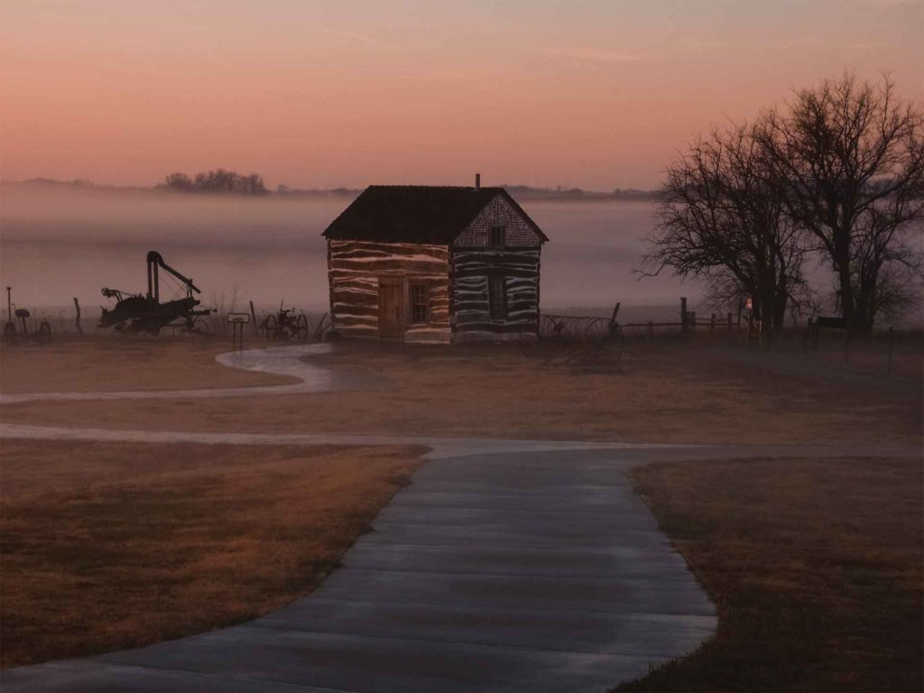 Built in 1867 and deluxe for its day, the 14x16-foot Palmer-Epard cabin serves as an interpretive feature at the Homestead National Monument of America, giving a glimpse of life on the frontier in the years following the Civil War.