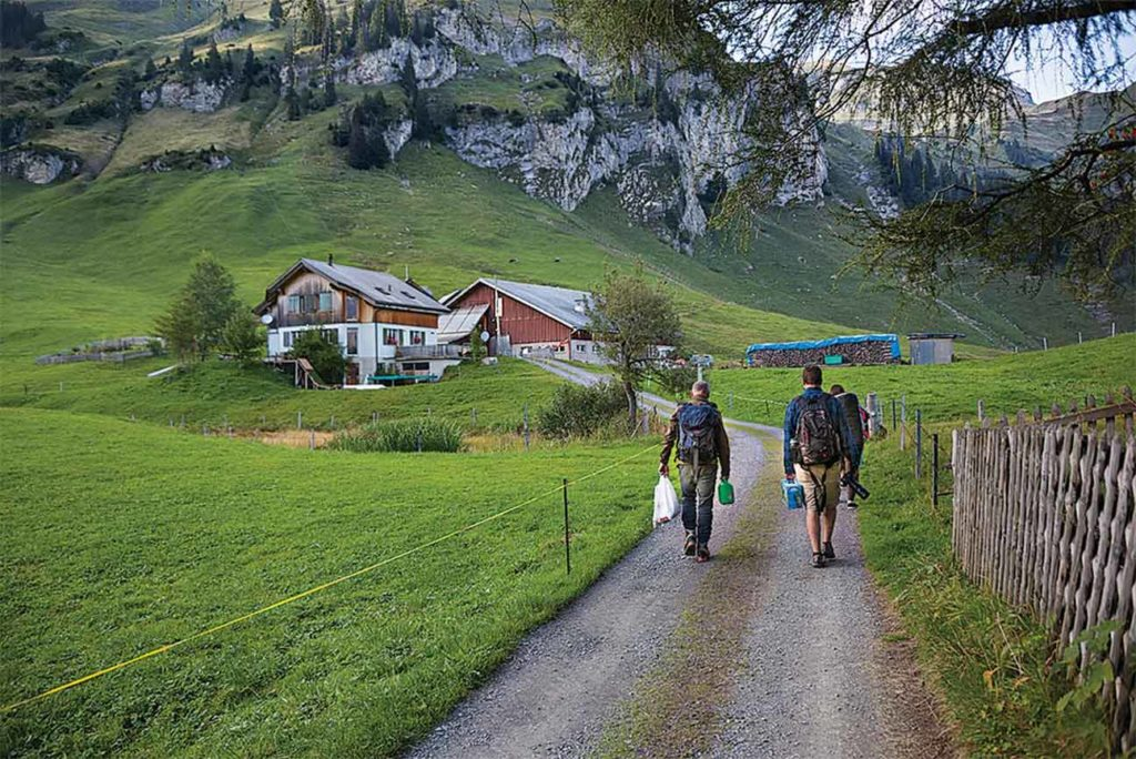 Switzerland's appeal lies in its rugged mountains, lush green valleys and picturesque farms and villages.