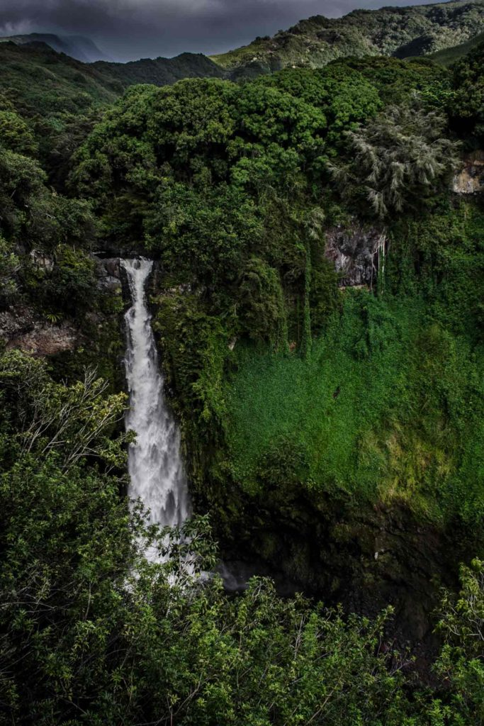 The waterfalls of the Seven Sacred Pools, near Kaupo Ranch.