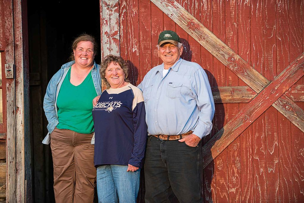 Heather, Jody and Sidney Wills manage a 200-head herd in western Montana.