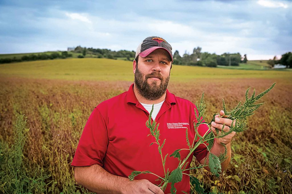 Mike Witt helps growers learn key differences between waterhemp and the new pest.