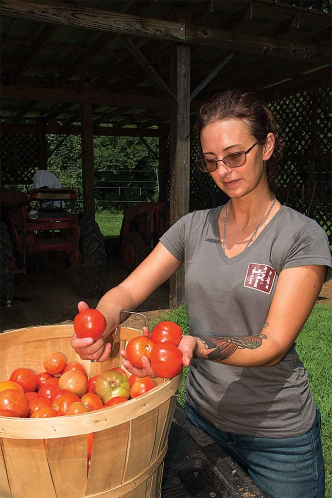 Crystal Miller manages vegetables for Double H Farms inside the city of Nashville.