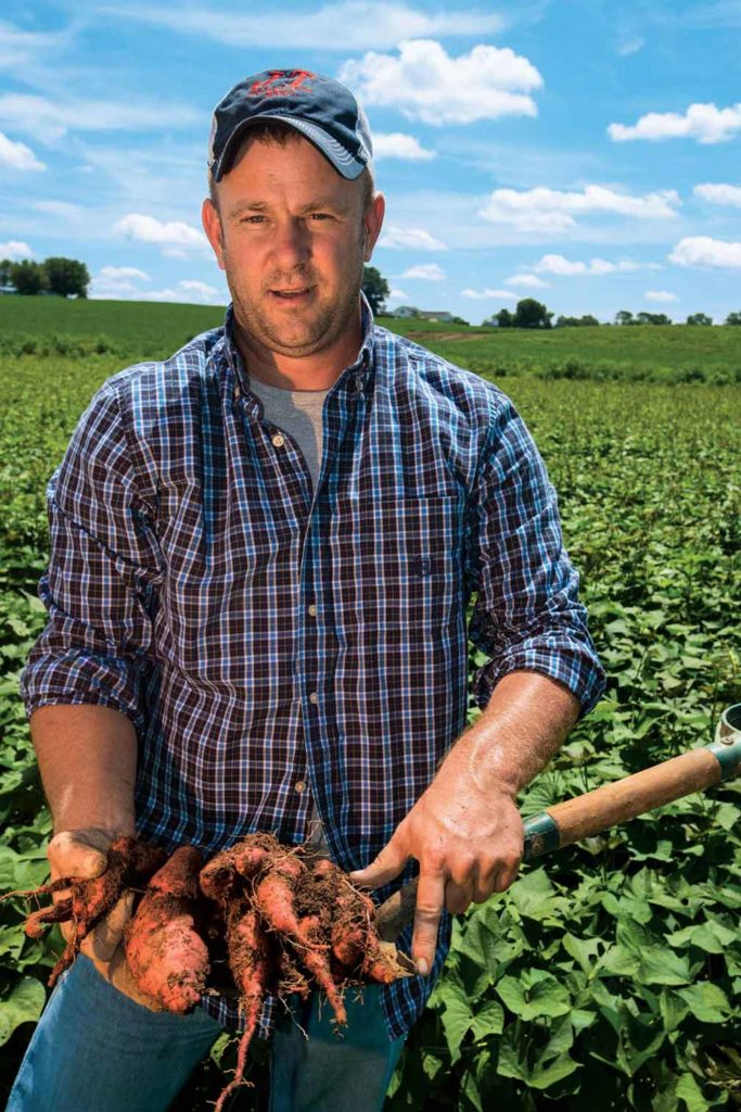 Matt West, who grows sweet potatoes at Fayetteville, Tennessee, calls the Second Harvest program a win-win for everyone.