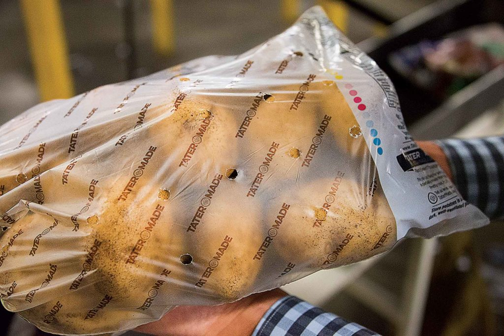 This translucent Tater Made bag is being replaced by a transparent one.