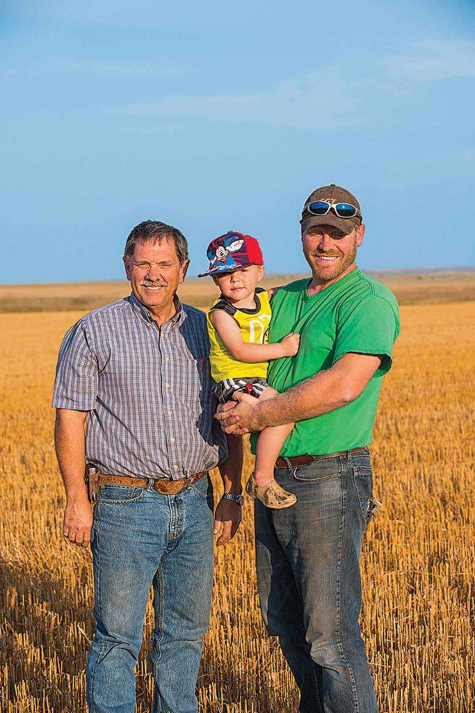 Grant Zerbe hopes pulses can keep his son, Clayton, and grandson, Micah, farming.