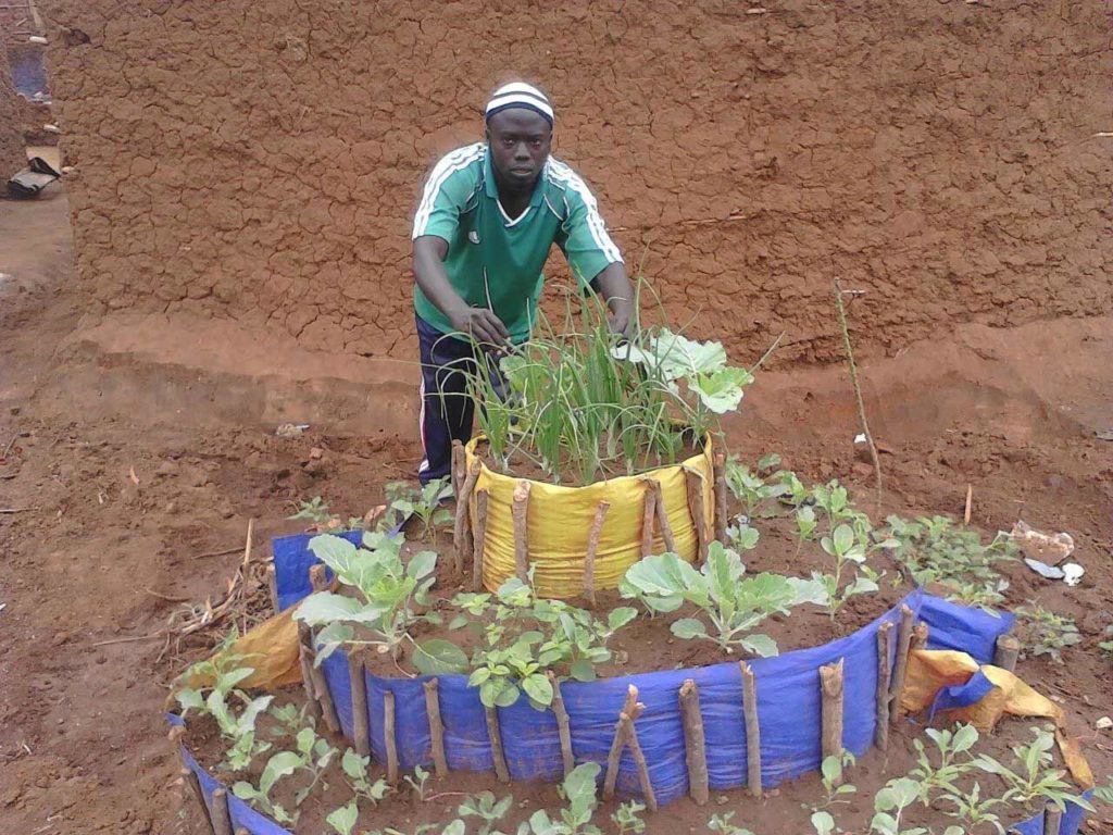 "Stacked like a cake, these ""kitchen gardens"" help sustain displaced families at the Mahama Refugee Camp in eastern Rwanda."