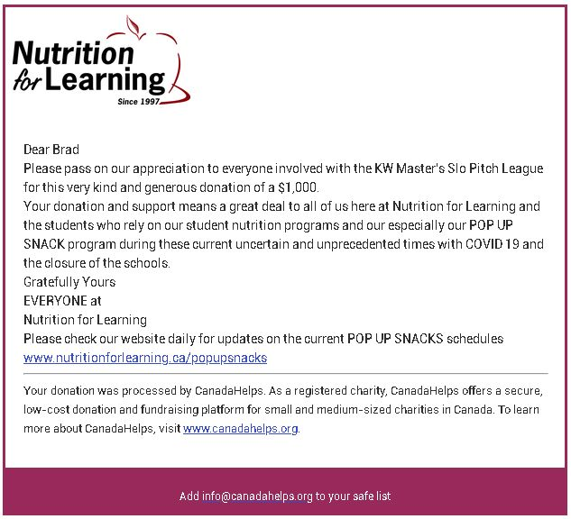Nutrition for Learning Donation