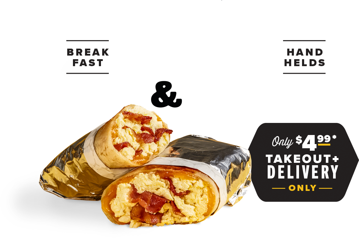 Breakfast Handhelds Grab & Go Takeout + Delivery Only Only $4.99*