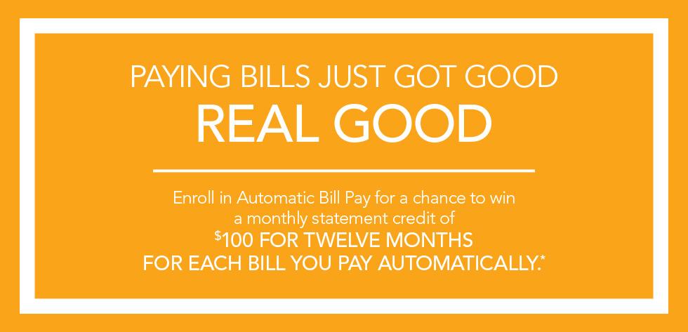 Paying Bills Just Got Good.