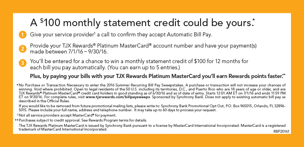 A $100 monthly statement credit could be yours.