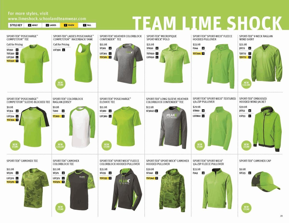 Sport-Tek Team Lime Shock