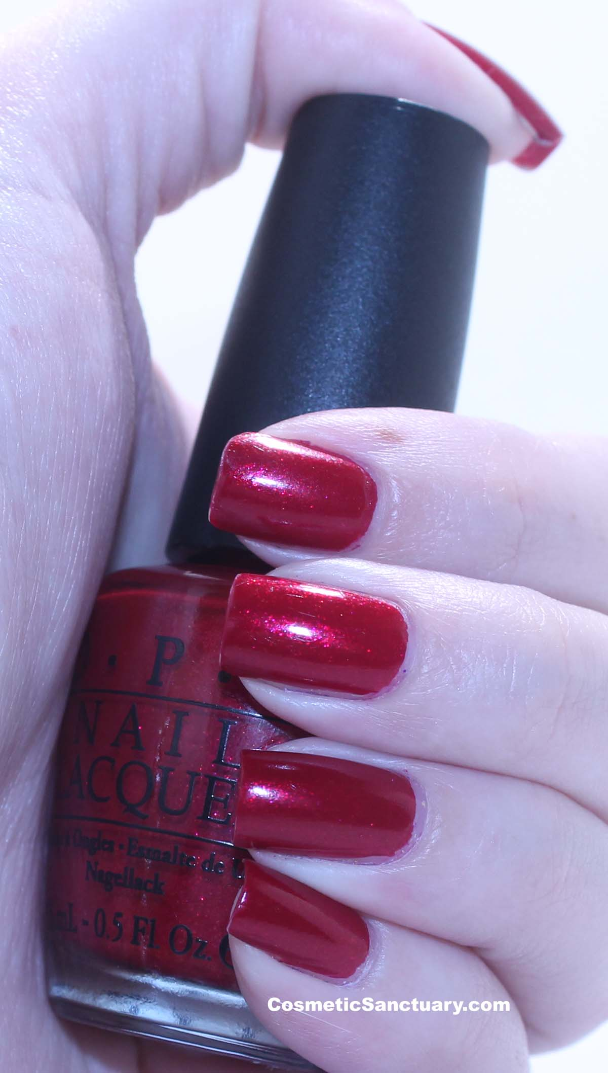 OPI Nail Polish and Merle Norman Lip Polish in Hussy Swatches and Review