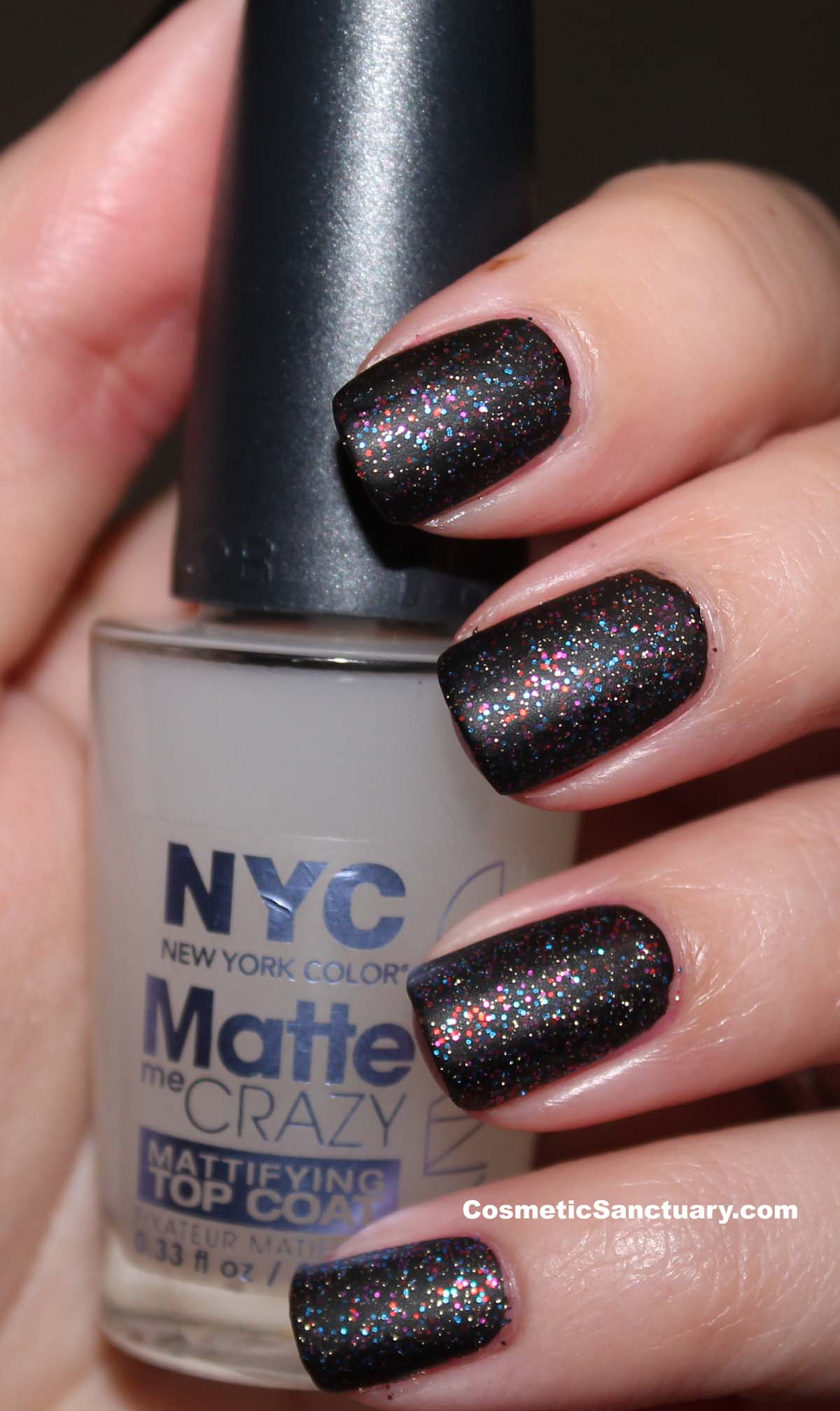 NYC Big City Sparkle and Matte Me Crazy Review and Swatches