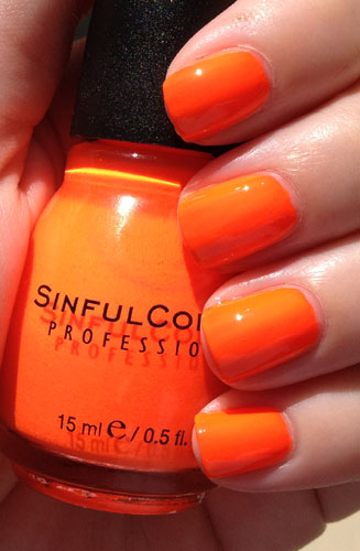 Summer Peach Is Bright Orange Not Sure Why In The Name I Saw No This Pretty Much Dead On For Neon Spray Paint Construction