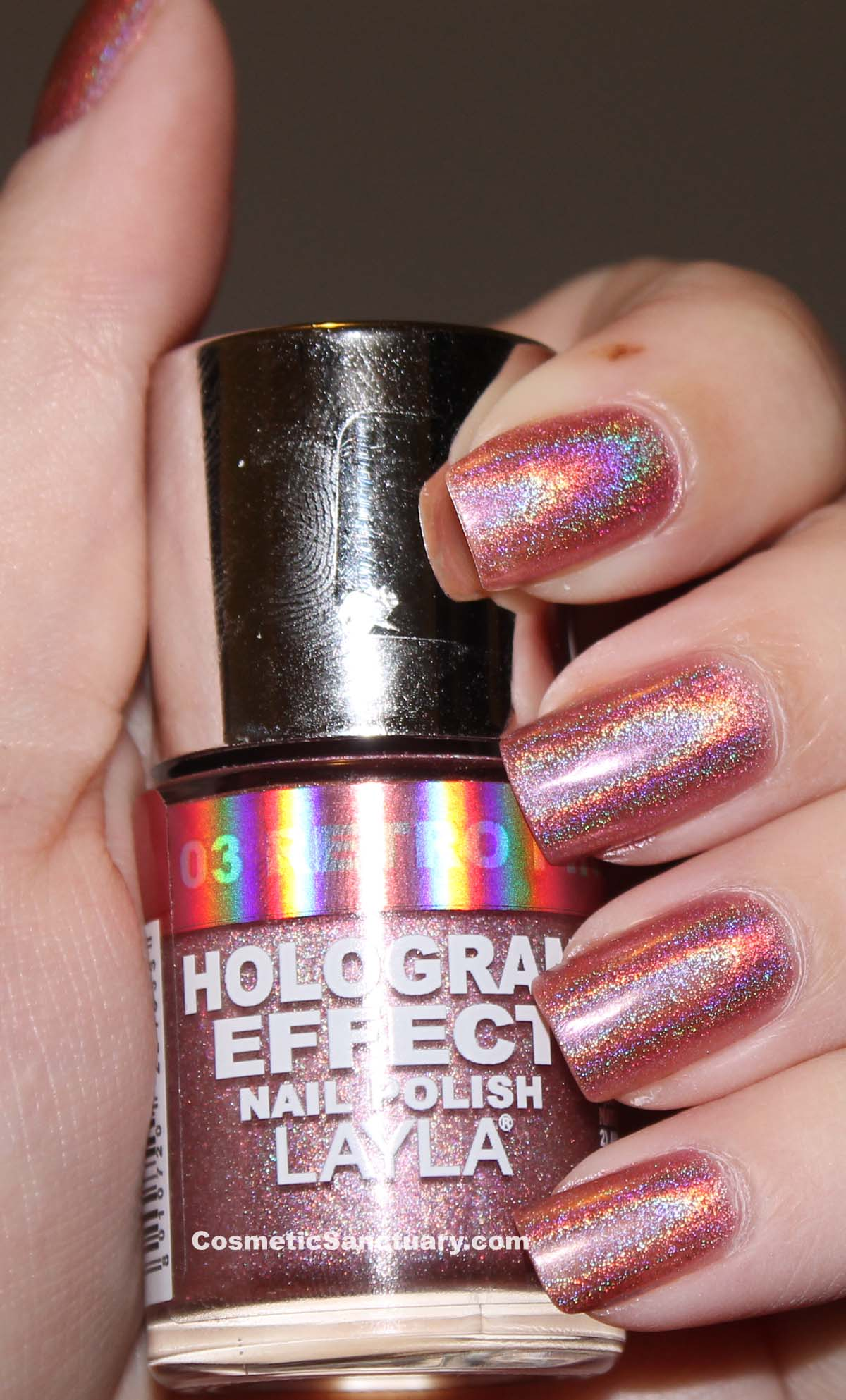 Layla Hologram Effect Nail Polish Swatches and Review
