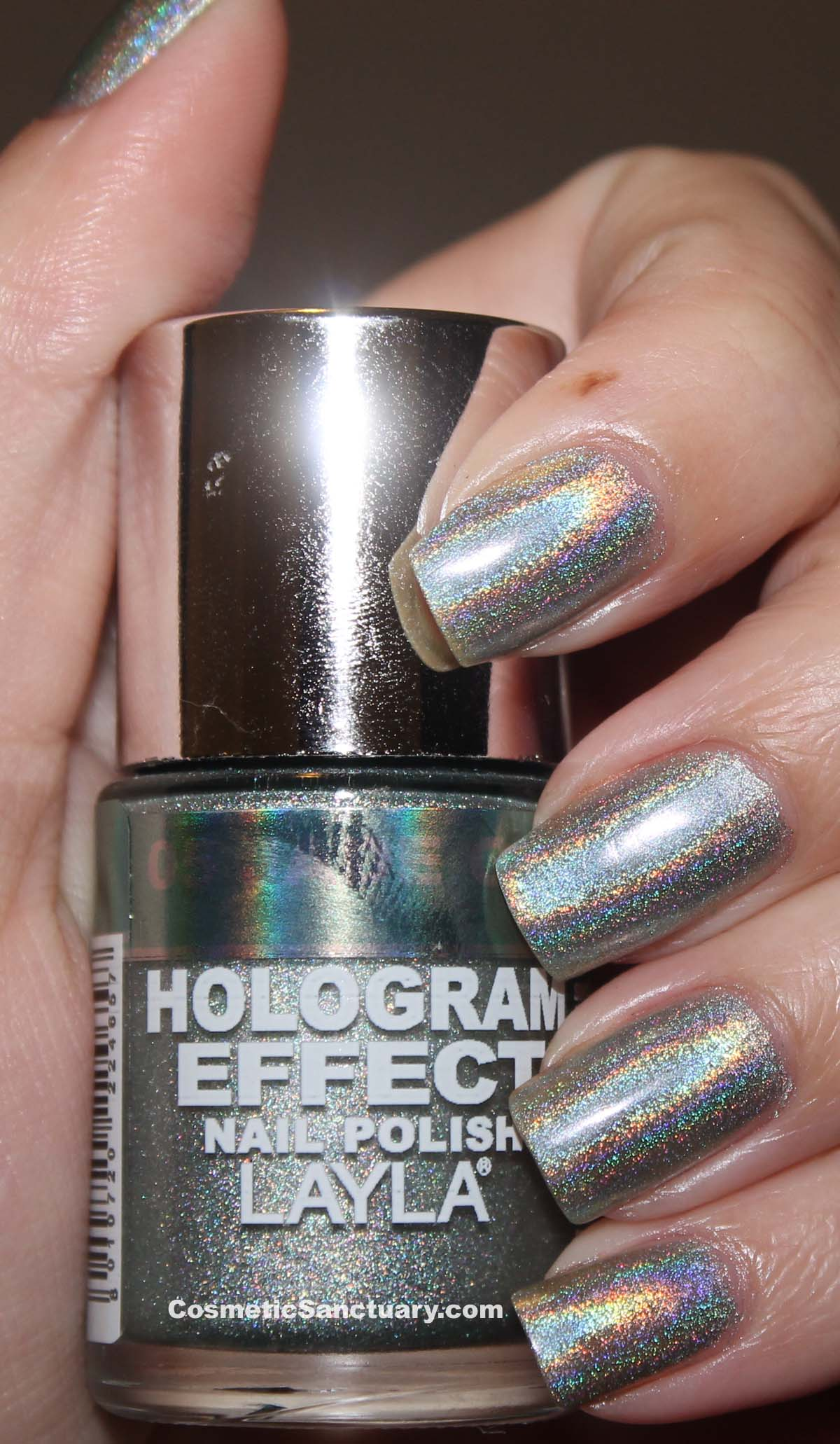 Holographic Nails: Layla Hologram Effect Nail Polish Swatches And Review