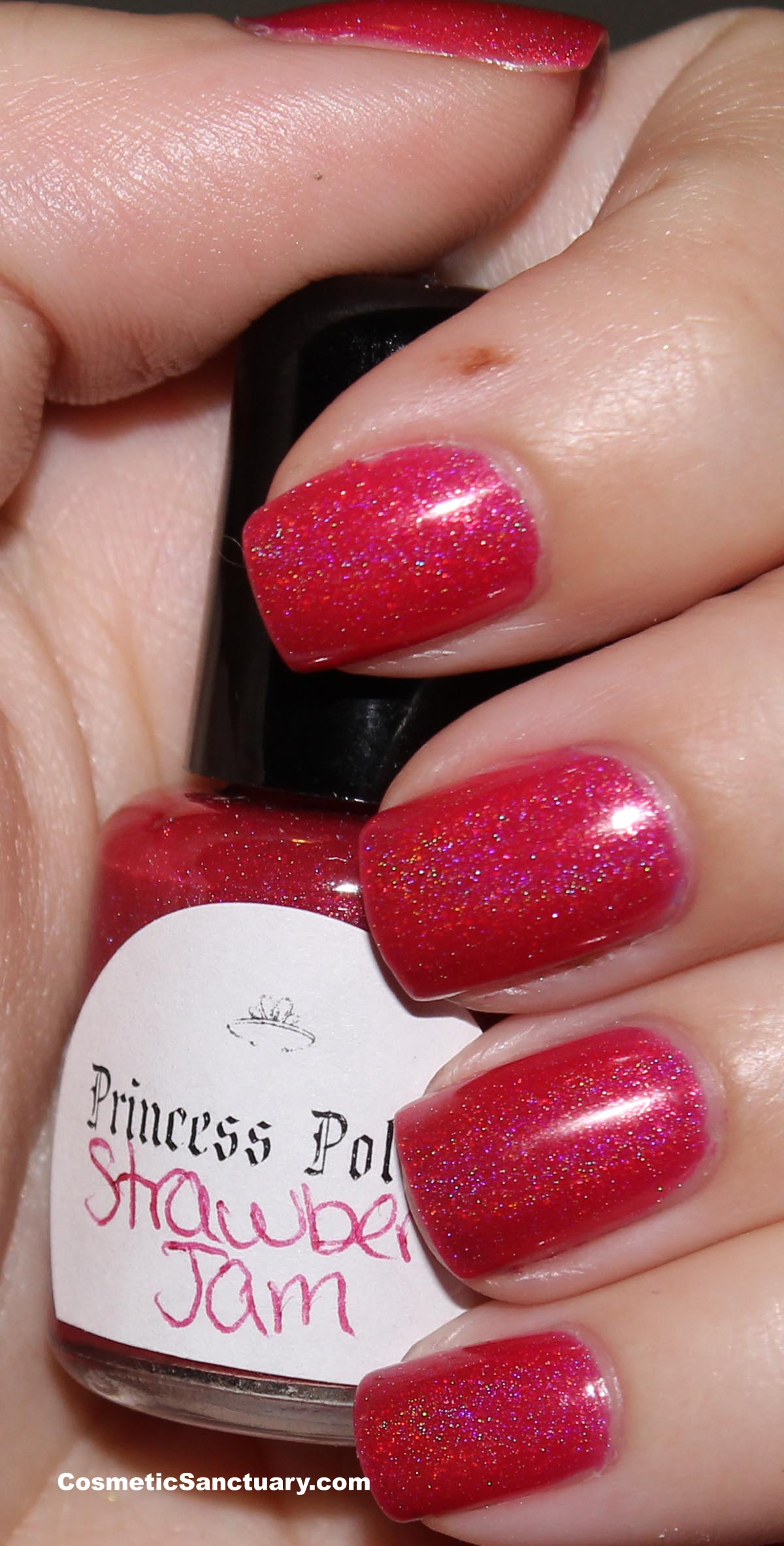 Princess Polish – Strawberry Jam Swatch and Review