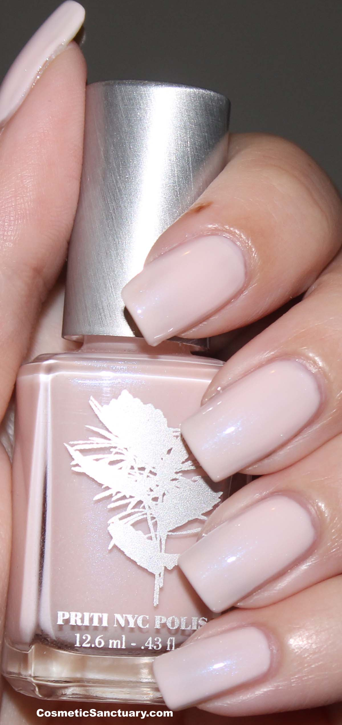 Priti NYC Pink Jewel Carnation and Soy Nail Polish Remover Swatch ...