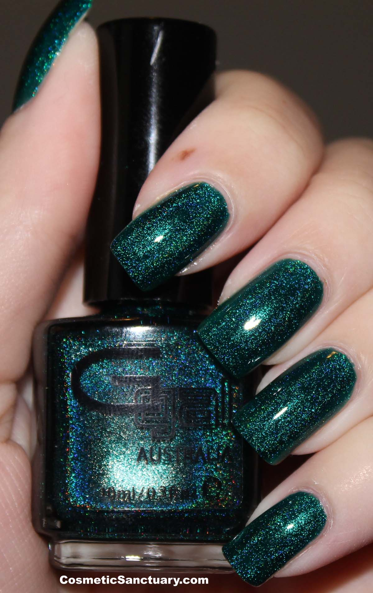 Glitter Gal Citrine and Teal Green Holographic Swatches and Review