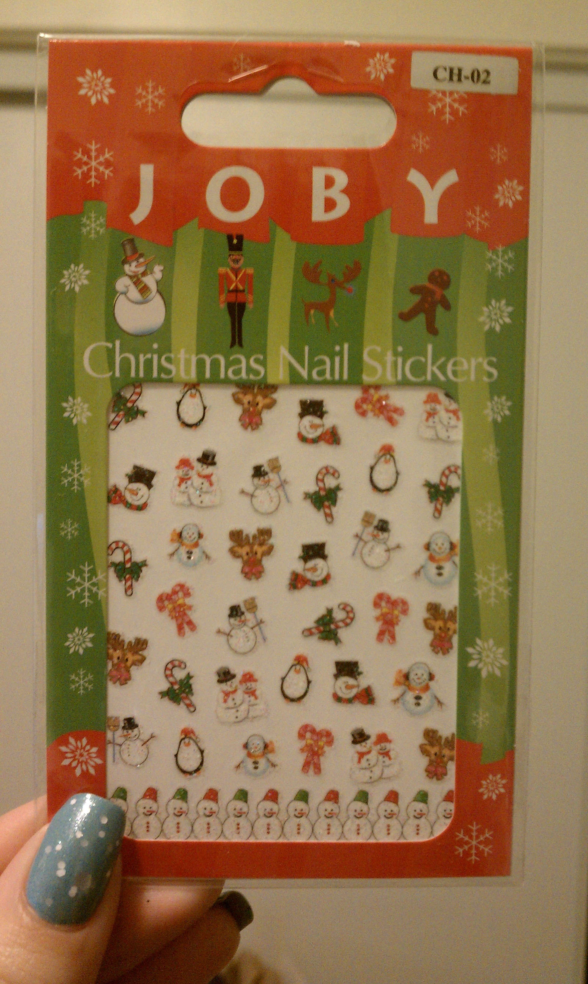 Joby Nail Art Holiday Nail Stickers Review and GIVEAWAY!