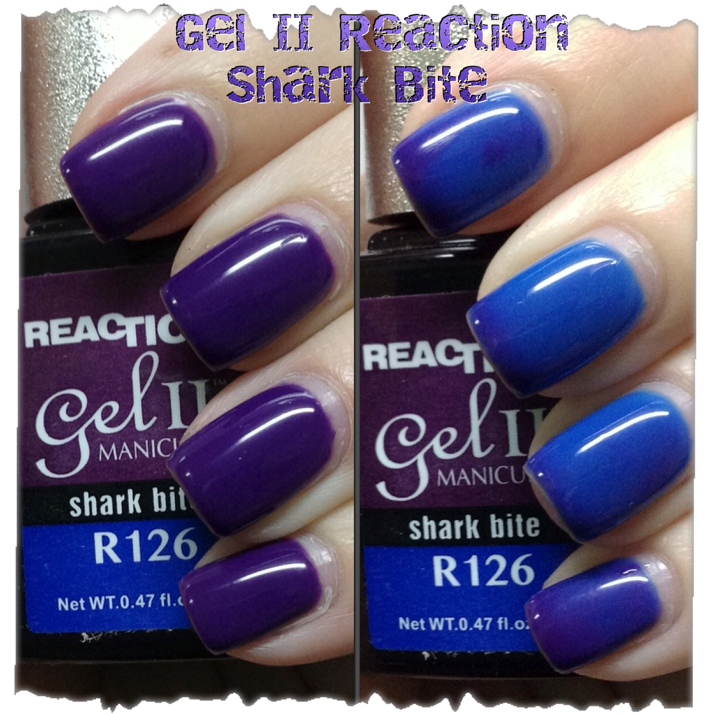 Gel II Reaction Polish - Shark Bite - Swatches and Review