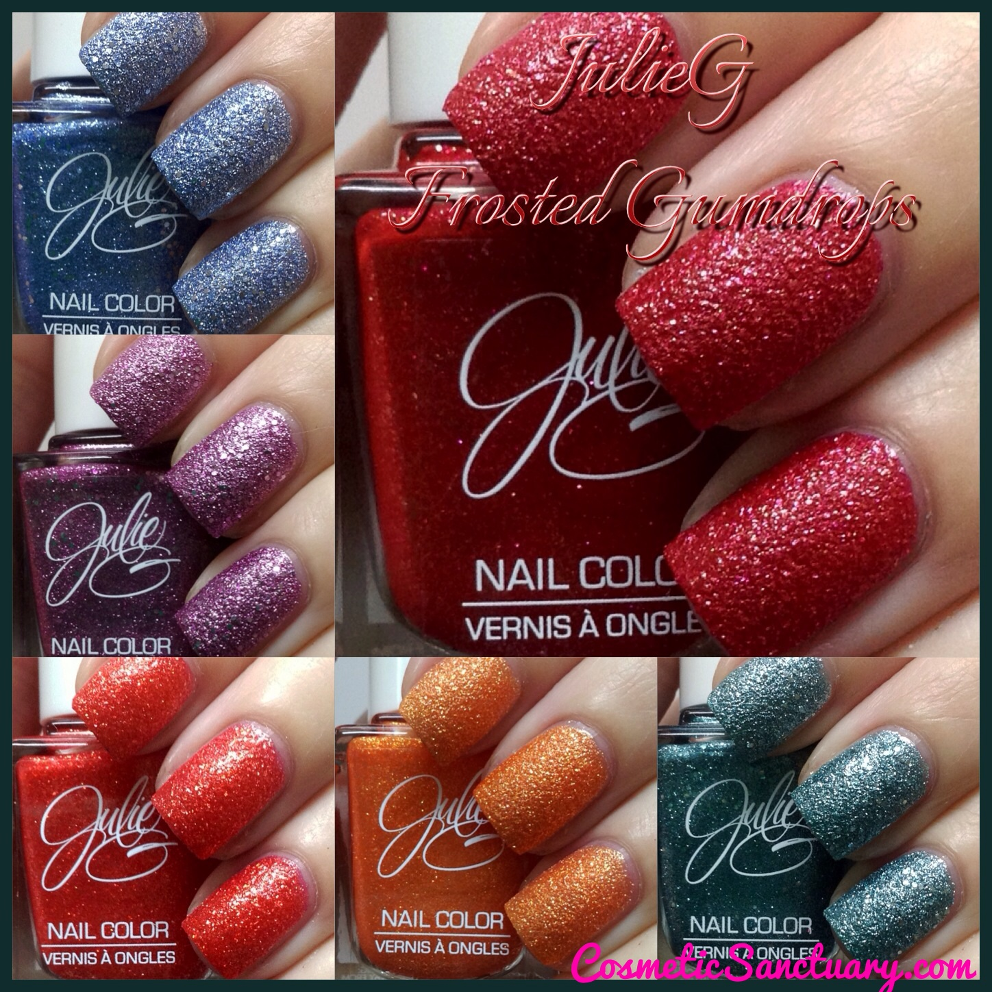 Julie G Gumdrops Collection Swatches, Review AND A Giveaway!