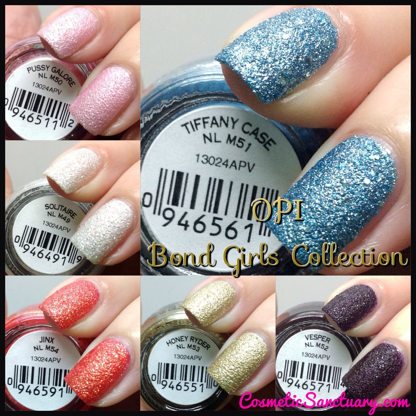 OPI Bond Girls Collection Swatches and Reviews