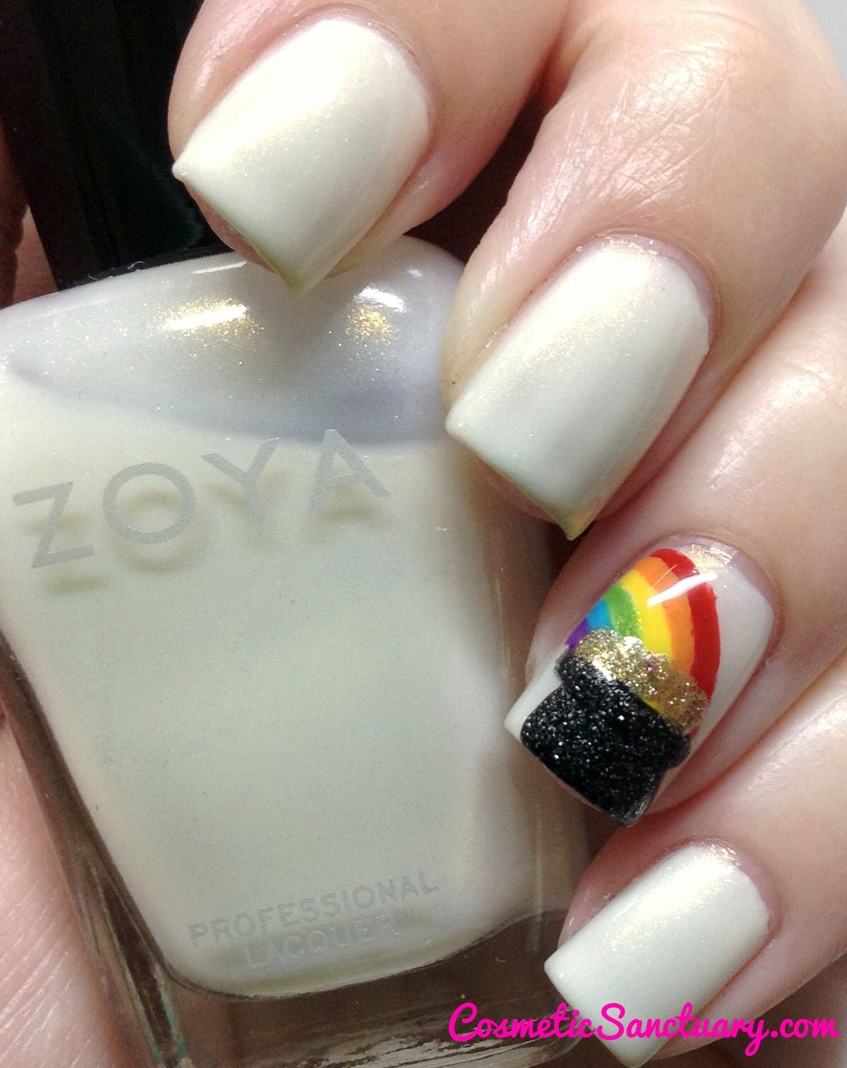 Zoya St. Patrick\'s Day Rainbow with a Pot of Gold