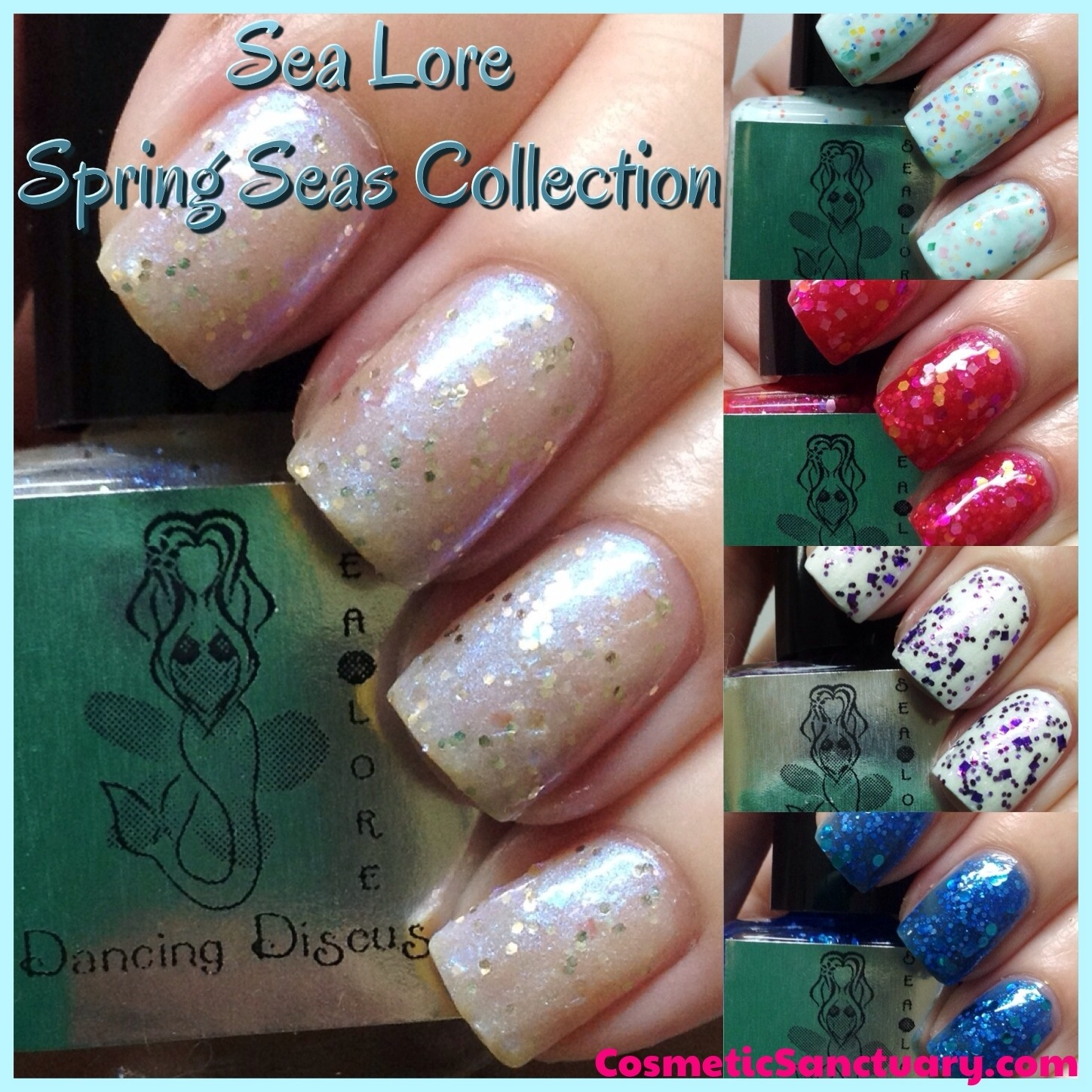 Sea Lore Spring Seas Collection Swatches and Review