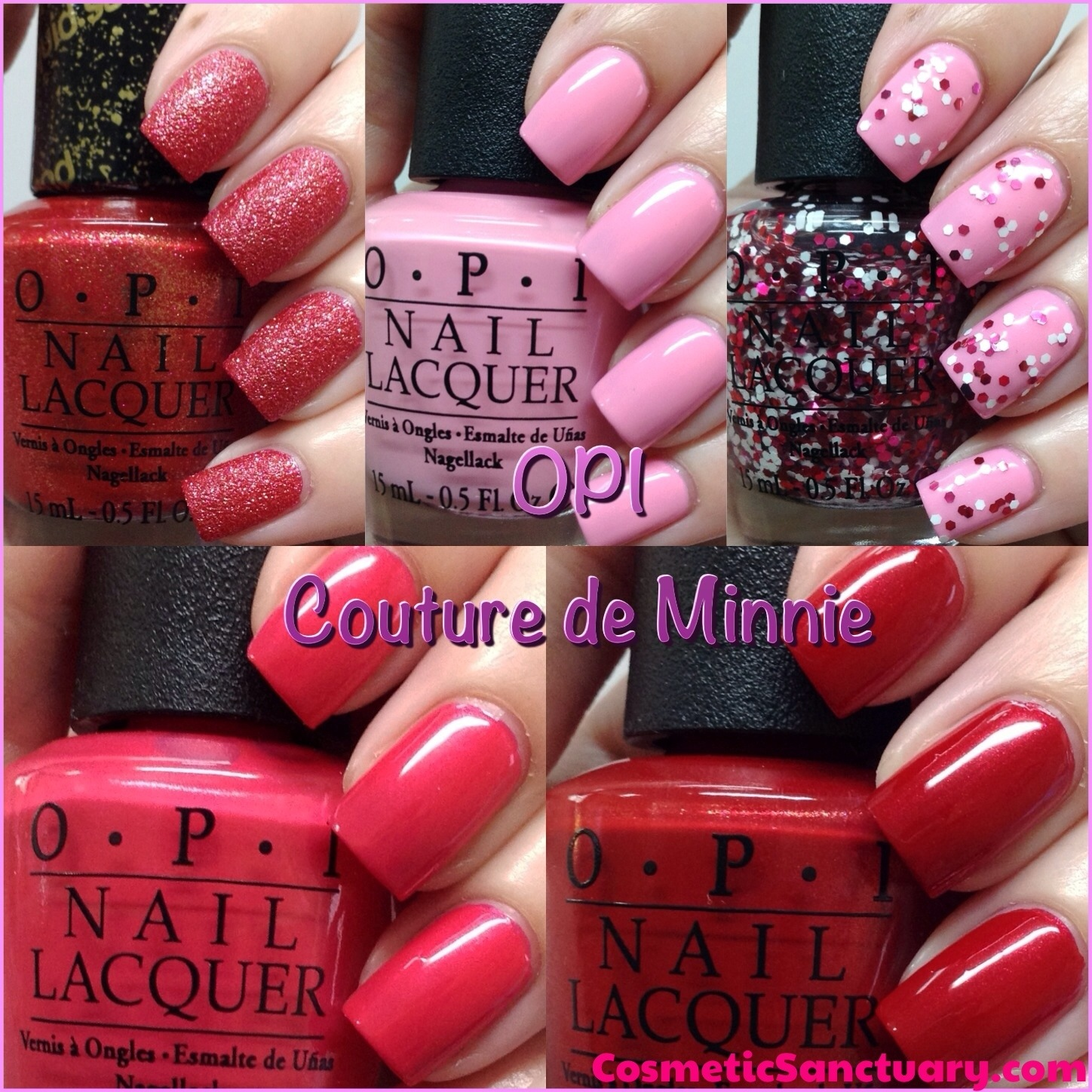 Opi Couture De Minnie Collection Swatches And Review Cosmetic Sanctuary
