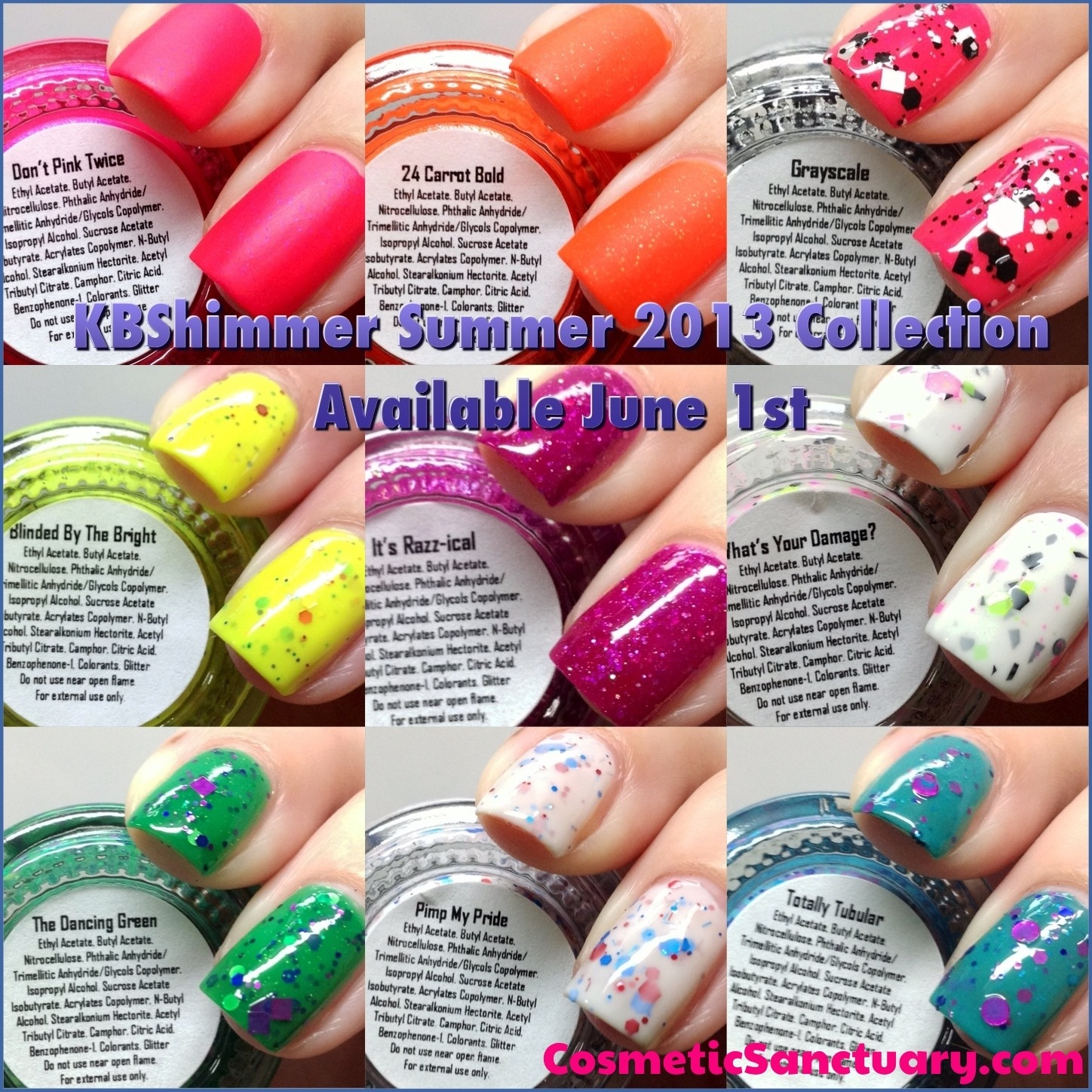 KBShimmer Summer 2013 Collection Swatches and Review - Cosmetic ...