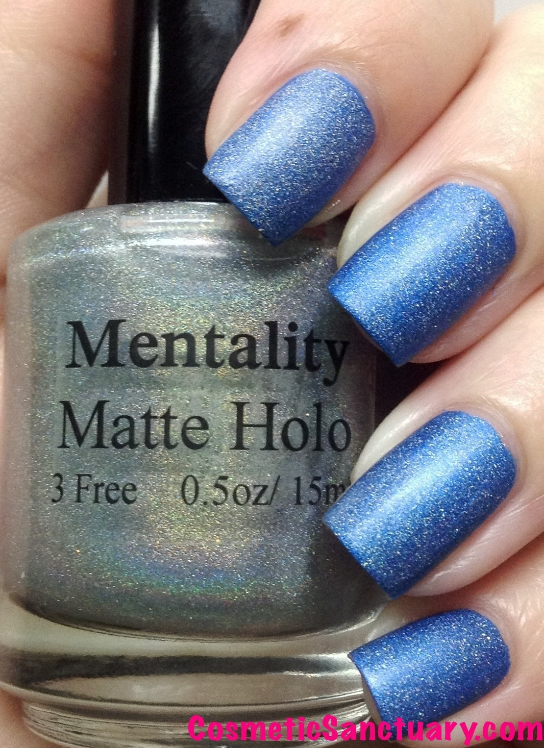 Mentality Nail Polish Ruffian and Matte Holo Top Coat Swatches and ...