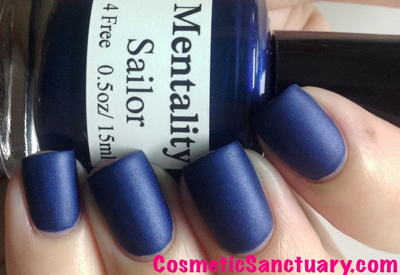 Nail Polish The Blue Mattes Swatches and Review