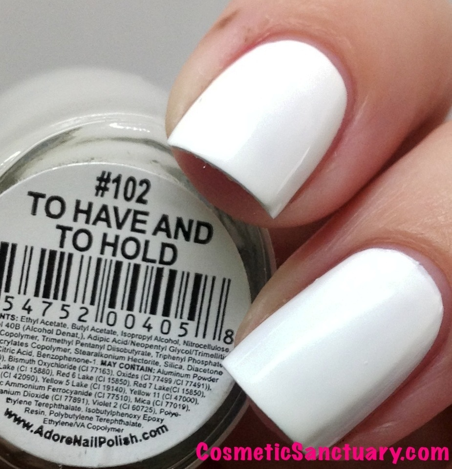 Adore Nail Polish To Have and To Hold & My Happily Ever After ...