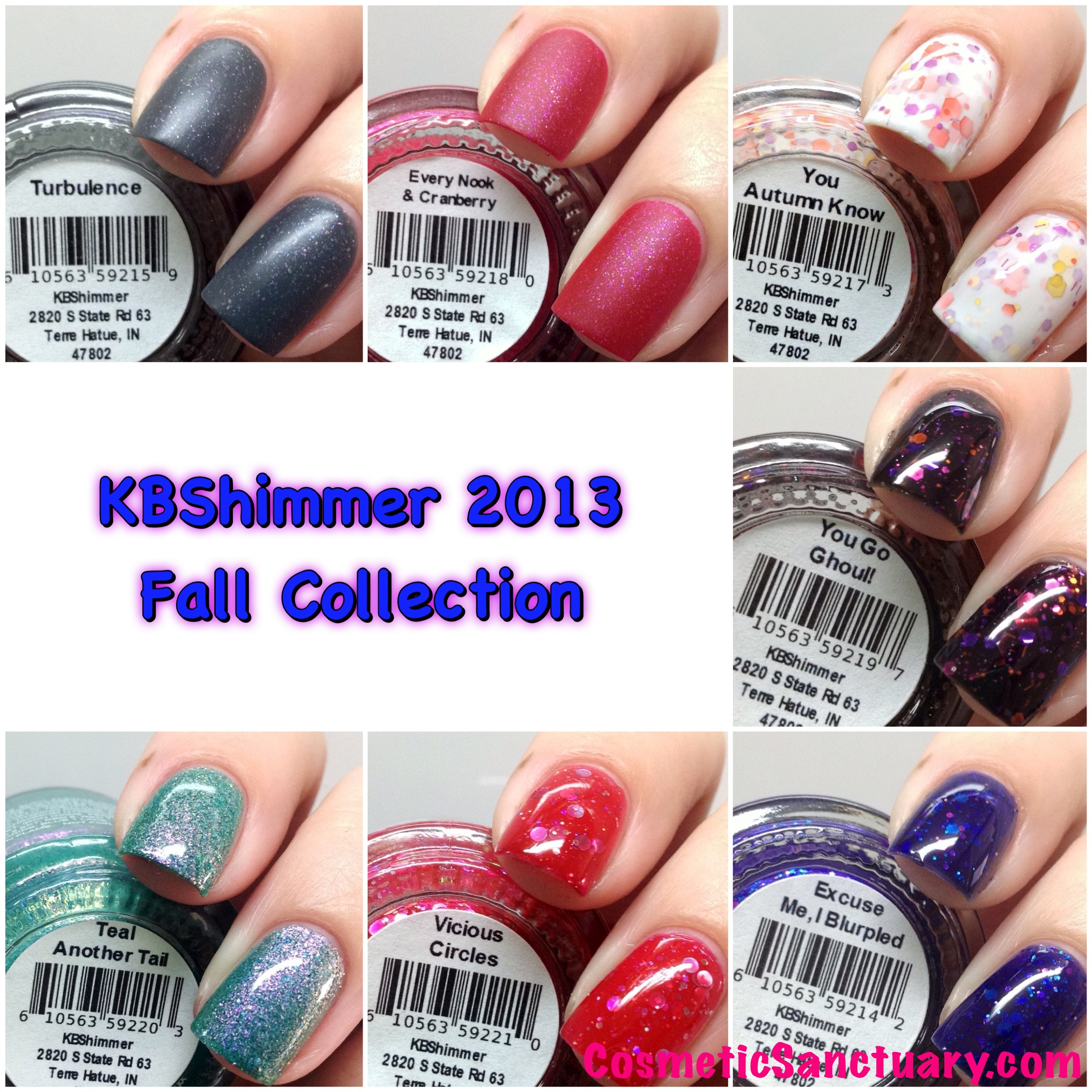KBShimmer 2013 Fall Collection Swatches and Review