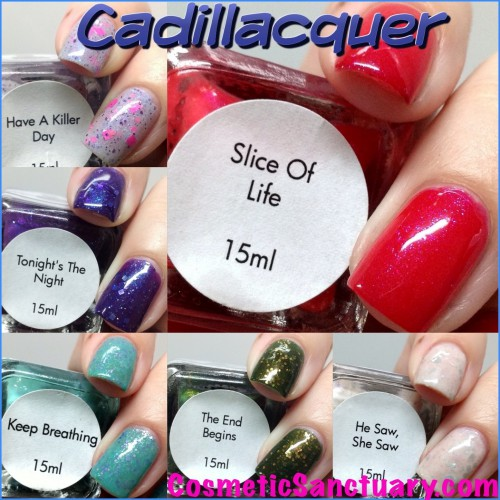 Cadillacquer Dexter Collection Swatches and Review